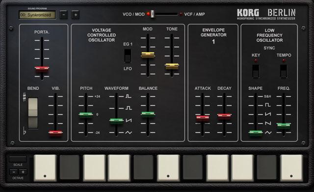 Synth gadgets – KORG app Help Center